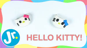 how to make hello kitty out of clay simple crafts for kids