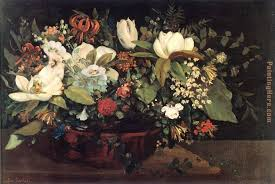 basket of flowers gustave courbet basket of flowers painting anysize 50 basket