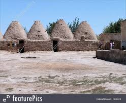 adobe houses harran beehive house photo