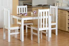 ludlow contrasting oak and white dining set amazon co uk kitchen