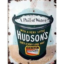 hudson u0027s soap vintage metal tin sign poster wall plaque