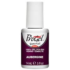supernail progel nail polish aubergine 14ml professional nails