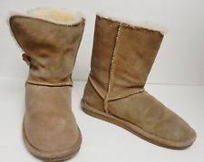s ugg australia brown joey boots bjorndal zoe boots womens sz 8m suede leather sheepskin
