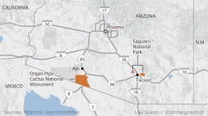 Map Of Arizona And California by With Giant Cactuses And Sleek Jaguars Arizona U0027s Sonoran Desert
