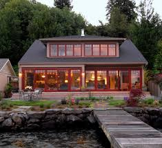 red exterior windows exterior beach style with transitional look
