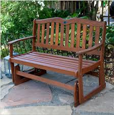 Eucalyptus Patio Furniture Loveseat Glider For The Patio Or Garden Made Of Solid Eucalyptus Wood