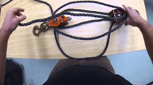 block and tackle l reeving tackle blocks youtube