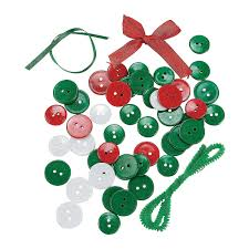 button wreath ornament craft kit crafts for