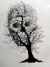 tree of with skull tatting and