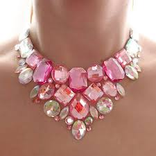 pink rhinestone necklace images Best formal statement necklace products on wanelo jpg