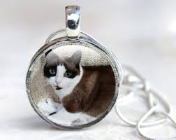 Personalized Cat Necklace Custom Cat Necklace Eco Friendly Recycled Silver Personalized