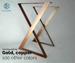 Office Desk Legs Copper Color Table Legs 28x20 Steel Table Base