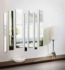 Decorative Mirrors For Living Room by Umbra Strip Wall Mount Mirrors Set Of 7 Add A Little Drama And