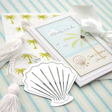 bookmark favors a from the sea seashell bookmark