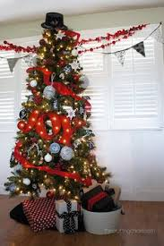 White Christmas Tree Ideas Snowman by Red White U0026 Black Christmas Tree Diy Christmas Tree Diy