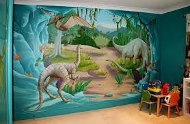 themed artwork enliven your kids bedroom dinosaur themed wall murals dma