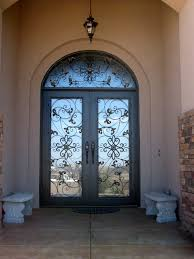 glass security doors outstanding home fiberglass entry door with arched style and