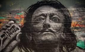 Wall Wallpaper Wall Painting Face Man Graffiti Street Wallpaper