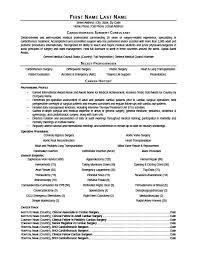 cardiothoracic surgeon consultant resume template premium resume