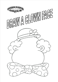 circus coloring pages to print archives at free clown coloring