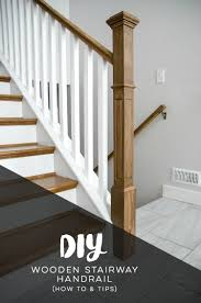 Banisters And Handrails How To Install A Wooden Handrail On Split Level Stairs Lemon Thistle