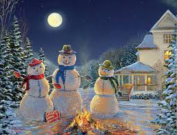 sam timm u2014 moonlit snowmen boxed christmas card 1309x1000