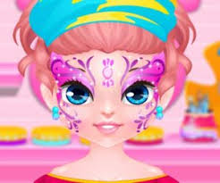 baby barbie frozen face painting fun baby games