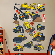 construction truck collection wall decals by fathead tonka construction truck collection wall decals by fathead