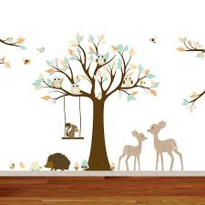 Animal Wall Decals For Nursery Wall Decal Design Woodland Forest Nursery Creature Animal Wall