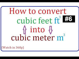 mtr to ft how to convert cubic feet to cubic meter or cubic meter to cubic