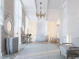 White Laminate Tile Flooring Luxury Modern Bathroom Black Cream Colors Damask Pattern Ceramics