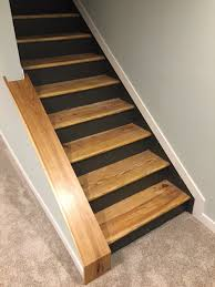 Stair Laminate Flooring Staircase Remodel Diy Basement Stair Transformation U2014 Revival