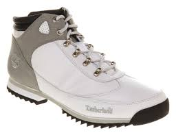 timberland euro hiker white leather in white for men lyst