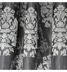 Black And White Thermal Curtains Patterns Black Poly Thermal Curtains And Drapes