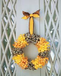 How To Make Halloween Wreaths by Halloween Candy Wreath Martha Stewart