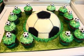 soccer cake soccer cake and cupcakes by lau on deviantart