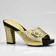 italienisches design gold farbe italienische dame high heels pumps mit strass