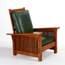 morris chair similar to the lazyboy recliner in green leather we
