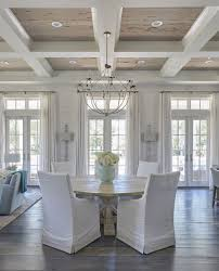 how high to hang curtains 9 foot ceiling farmhouse living room white planked walls vaulted ceilings and
