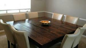 Square Wood Dining Tables Attractive Dining Tables Outstanding Square Table For 12 Person In