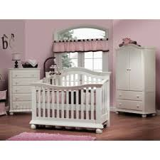 Convertible Crib Nursery Sets Sorelle Vista 3 Nursery Set In White Couture Crib