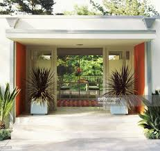 entrance to modern house stock photo getty images