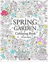 spring garden colouring book ann black 9781908072818 amazon