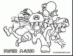 impressive super mario bros characters coloring pages with mario