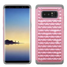 diamond full star galaxy note 8 case pearl pink gray