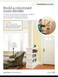 What Is A Foyer Columned Room Divider With Low Shelves Separates Front Door From