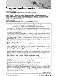 bureau registre des entreprises delf pro b2 comprehension des ecrits exercice 1