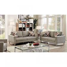 Sofa Norwich Norwich Contemporary Style Sofa Set In Chenille Fabric Cm6855