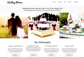 ultimate wedding planner 60 best html wedding website templates 2017