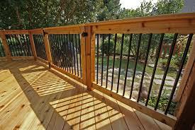 metal deck railings including home organization black modern iron